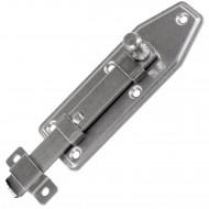 1 GAH Fensterriegel 100x35x12 mm - Edelstahl A2 - gerade mit Schlaufe und Knopf