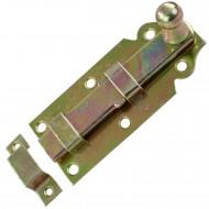 1 GAH Türriegel 100x44x16 mm - gerade - mit Schlaufe - gelb verzinkt