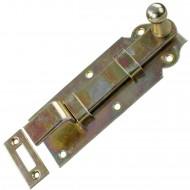 1 GAH Türriegel 140x52x20 mm - gekröpft - mit Schließblech - gelb verzinkt
