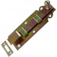 1 GAH Türriegel 160x56x22 mm - gekröpft - mit Schließblech - gelb verzinkt