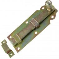 1 GAH Türriegel 140x52x20 mm - gerade - mit Schlaufe - gelb verzinkt