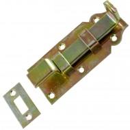 1 GAH Türriegel 100x44 mm - gekröpfte Ausführung - gelb verzinkt