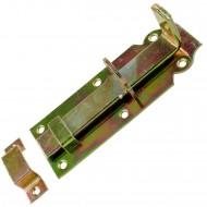 1 GAH Schlossriegel 140x52 mm - gerade Ausführung - gelb verzinkt
