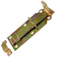 1 GAH Schlossriegel 160x56 mm - gerade Ausführung - gelb verzinkt