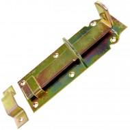 1 GAH Schlossriegel 180x64 mm - gerade Ausführung - gelb verzinkt