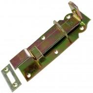 1 GAH Schlossriegel 140x52x20 mm - gekröpft - gelb verzinkt