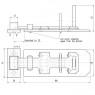 1 GAH Sicherheits-Schlossriegel 100x40x15 mm - mit flachem Griff - gelb verzinkt