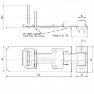 1 GAH Sicherheits-Schlossriegel 140x55x20 mm - mit flachem Griff - gelb verzinkt