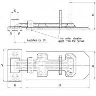 1 GAH Sicherheits-Schlossriegel 80x35x13 mm - mit flachem Griff - gelb verzinkt