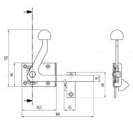 1 GAH Edelstahl Gartentorfalle 80x55 mm Grundplatte - Kugelgestrahlt