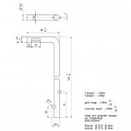 1 GAH Bodenschieber 400 x 40 mm Ø = 16 mm - feuerverzinkt