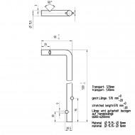 1 GAH Bodenschieber 500 x 40 mm Ø = 16 mm - feuerverzinkt