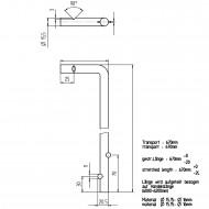 1 GAH Bodenschieber 600 x 40 mm Ø = 16 mm - feuerverzinkt