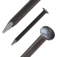 1000 BÄR Stahlnägel 2 x 23 mm, gehärtet mit Linsenkopf und geschnittener Spitze