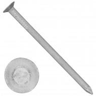 25 Aluminiumnägel 4,5x80 mm, mit Senkkopf, glatt, gebeizt