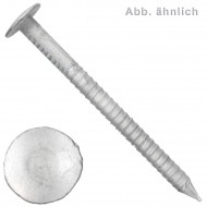 50 Aluminium-Riffelnägel, ohne Scheibe 5 x 80 mm
