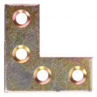 100 Möbel-Flachwinkel gelb verzinkt 25x25x10x1,3