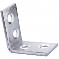 50 Stuhlwinkel galvanisch verzinkt 25x25x15x2