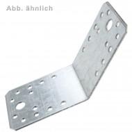 5 GAH Winkelverbinder 65 mm x 90 mm - 26 Löcher - Stahl - sendzimirverzinkt