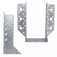 2 Balkenschuhe 80x150x1,5 mm - feuerverzinkt, Typ A, Laschen außen, zugelassen