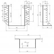 2 Balkenschuhe 140 x 180mm - feuerverzinkt - Typ A - Laschen außen - zugelassen