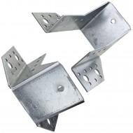 1 Balkenschuh 60 x 100mm - feuerverzinkt - Typ A - Laschen außen - zugelassen