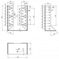 2 Balkenschuhe 140 x 180 mm - Typ B - 2mm stark - feuerverzinkt - ETA-09-0021