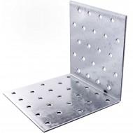 25 Lochplattenwinkel, Winkelverbinder,  sendzimirverzinkt 100x100x100x2mm ETA