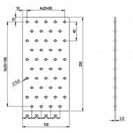 5 Standard Lochbleche feuerverzinkt 100x200x2,0 mm