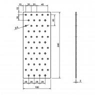 5 Standard Lochbleche feuerverzinkt 100x240x2,0 mm