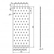 5 Standard Lochbleche feuerverzinkt 120x300x2,0 mm