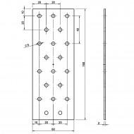 10 Standard Lochbleche feuerverzinkt 60x160x2,0 mm