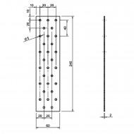 10 Standard Lochbleche feuerverzinkt 60x240x2,0 mm