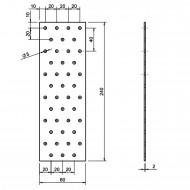 5 Standard Lochbleche feuerverzinkt 80x240x2,0 mm