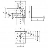 25 Winkelverbinder 105x105x90 , Dicke 3,0 mm, verzinkt, ohne Steg / Rippe