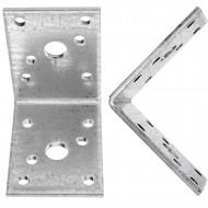 50 Schwerlast- Winkelverbinder, sendzimirverzinkt, 60x60x45x3 mm , ETA