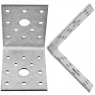 10  Winkelverbinder 70x70x55 , Dicke 2,5 mm, verzinkt, ohne Steg / Rippe