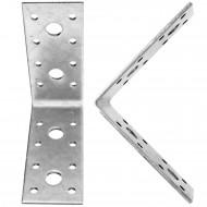 50 Winkelverbinder 90x90x40 , Dicke 3,0 mm, verzinkt, ohne Steg / Rippe