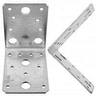 50 Winkelverbinder 90x90x65 , Dicke 2,5 mm, verzinkt, ohne Steg / Rippe