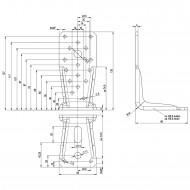 25 Winkelverbinder KR feuerverzinkt 135x65x4