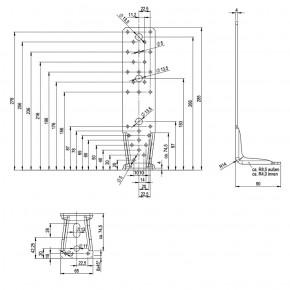 1 Winkelverbinder KR feuerverzinkt 285x65x4