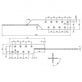 50 Sparrenpfettenanker zugelassen ETA-14/0105Typ Universal 250 - Standard