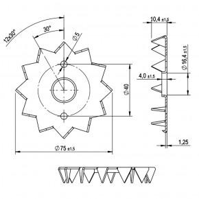 6 Einpressdübel DIN 1052 1-seitig verzinkt 75 mm Durchmesser
