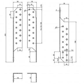 25 Paar Sparrenpfettenanker (Rechts - Links) - 210 mm - feuerverzinkt