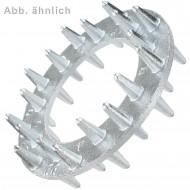 25 Einpressdübel für M20 - zweiseitig - 80 mm Durchmesser - verzinkt