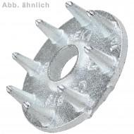 50 Einpressdübel für M20 - einseitig - 80 mm Durchmesser - verzinkt