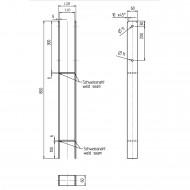 1 GAH H-Pfostenträger feuerverzinkt verstärkt 6-800mm für 115mm Pfosten
