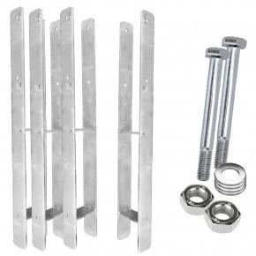 1 H-Pfostenträger, feuerverzinkt, extra lang, 6 mm / 800 mm für 100 mm Pfosten