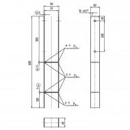 1 GAH H-Pfostenträger Edelstahl A2 4-600 für 90 mm Pfosten