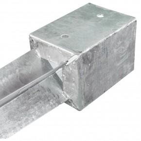 1 Einschlagbodenhülse für 45mm Pfosten Tiefe 600mm, 1,8mm stark